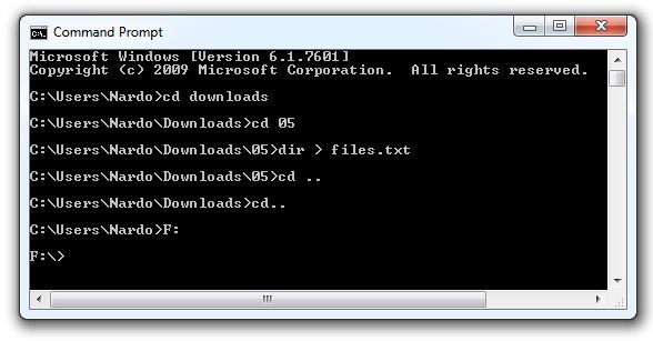 Working With The Command Prompt