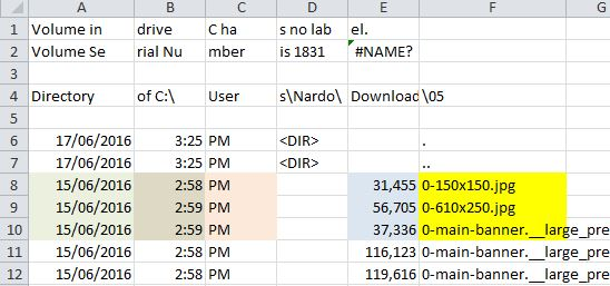 Tab Delimited: All Information In Separate Spreadsheet Cells