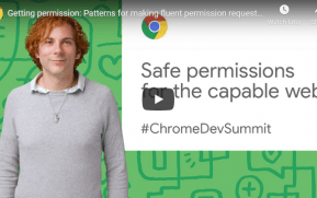 Getting permission: Patterns for making fluent permission requests (Chrome Dev Summit 2019)